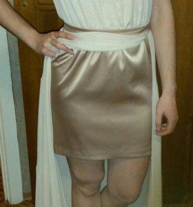 Шифоновое платье в пол.