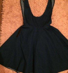 Новое Джинсовое платье- сарафан
