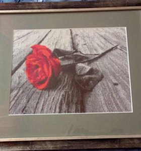 Роза вышитая крестом 39х33