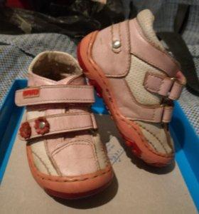 Ботинки кожа весна, 20 размер