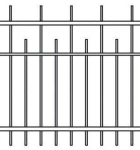 Забор сварной с пиками.