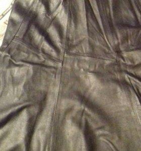Женская кожаная юбка