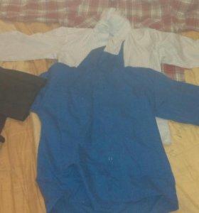 Рубашки на 10-11 лет, цена за три рубашки