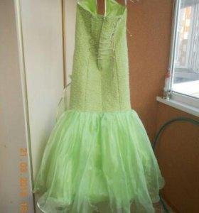 Выпускное платье салатовое польское