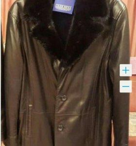 Мужская кожаная дубленка (куртка)