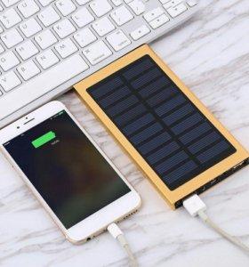 🔋🔆18000mAh павер банк с солнечной батареей