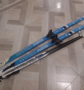 Лыжи с палками, 140см