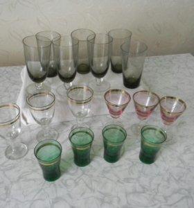 Рюмки,стопки,бокалы,стаканы.