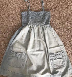 Джинсовое платье/ сарафан для беременных