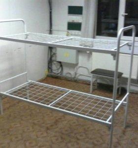 Кровать двухъярусная усиленная для рабочих