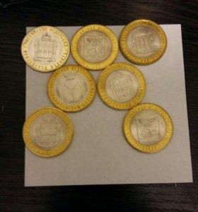 Монеты ,10 юбилейные