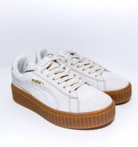 Rihanna Puma Suede Creeper Star White