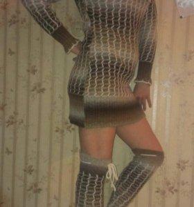 Платье с гетрами