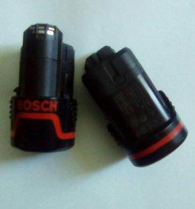 Аккумуляторы BOSCH 10,8v 1,3ah оригинальные 2шт.