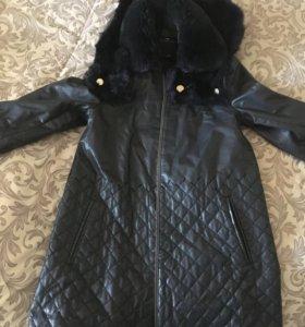 Италия Осеняя куртка ,кожа натуральная