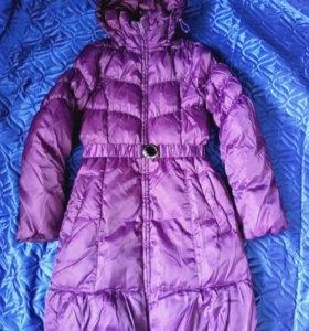 Яркая Куртка с поясом для девочки
