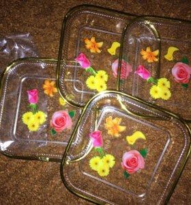 Тарелочки пластмассовые! 4 шт набор !