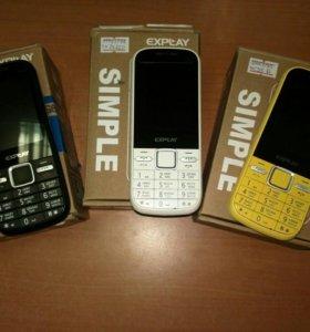 Телефон Expley Simple (3 сим)