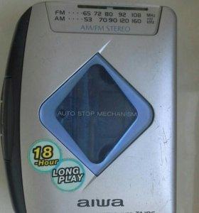 Плеер aiwa касетный + касеты + радиоприемник