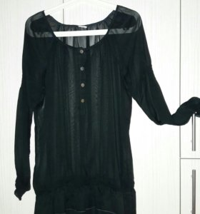 Шифоновая блузка-туника