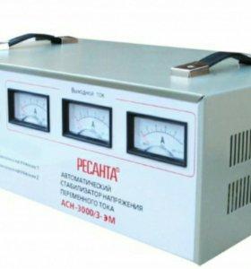 Стабилизатор трехфазный АСН- 3 000/3 Ресанта