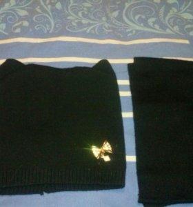 Комлект шапка и шарф