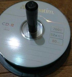 Диски CD-R 700mb 52x (55шт)