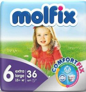 Подгузники Molfix 6, 15+ кг