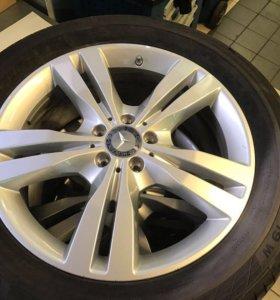 Диски Mercedes benz с резиной continental255/55/19