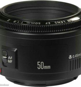 Обьектив Canon 50 mm F 1.8