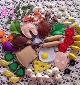 Кукольная еда из фетра, игрушки для девочек