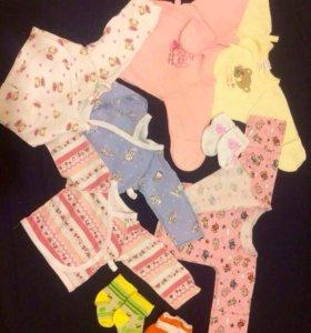 Пакет одежды для новорожденной девочки