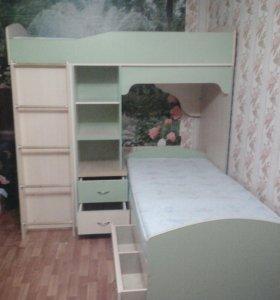 Образец. Кровать детская двухярусная угловая.