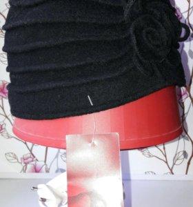 НОВАЯ шапочка LORICCI, мягкий фетр