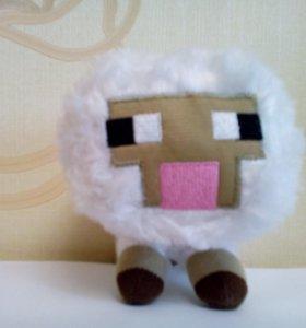 Плюшевая игрушка из Майнрафт овечка