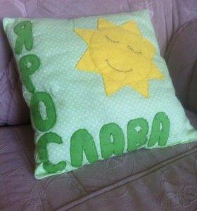 Именные детские подушки и гирлянды