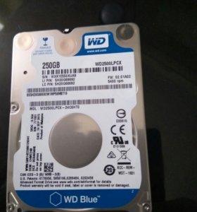 Жесткий диск WD 250Gb для ноутбуков