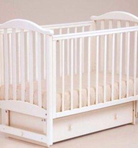 Кроватка Лель с детским матрасом Плитекс Magic Sea