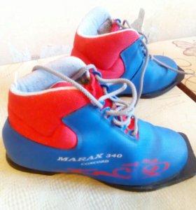 Лыжные ботинки 38р.