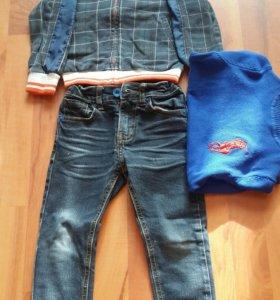 Курточка, джинсы, свитерок