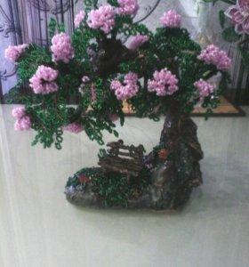 Дерево.ручная работа из бисера
