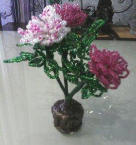 Цветы.ручная работа из бисера