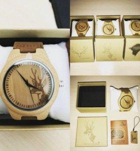 Эксклюзивные часы из дерева.