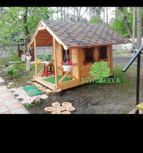 детские деревянные домики 89634115111