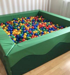 Сухой бассейн с шариками 200х200х50х20