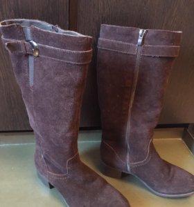 Новые женские зимние замшевые сапоги
