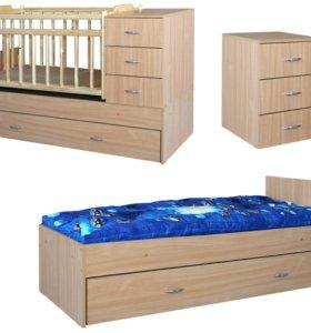 Детская кроватка Малыш 8 . Новая в упаковке.