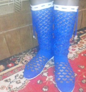Сапожки Ярко Синий