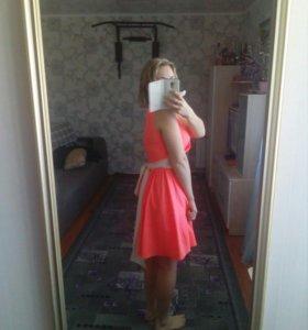 Платье рыжее