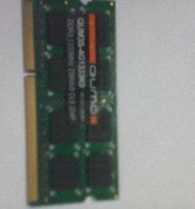 Память 4gb Quomo  DDR3 для нет или ноутбука